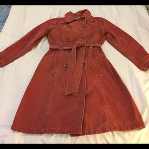 Nautica Red Denim Trench-coat - Rare